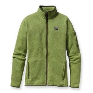 Patagonia Green Full Zip Better Sweater Fleece